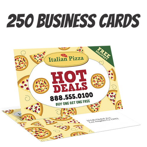 250 Full Color Double Sided Business Cards