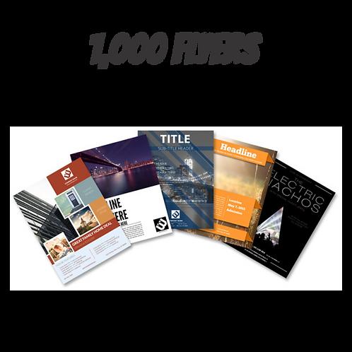 1,000 Flyers