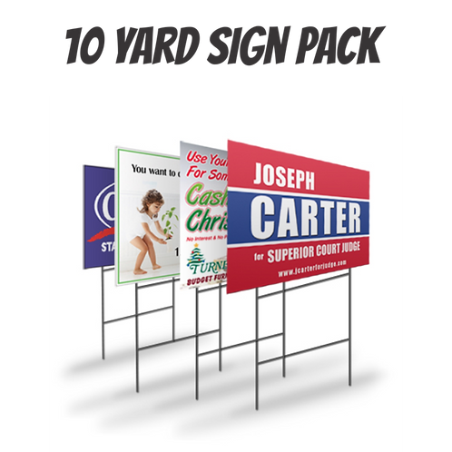 Pack of 10 Yard Signs