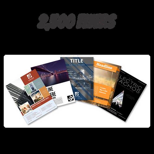 2,500 Flyers