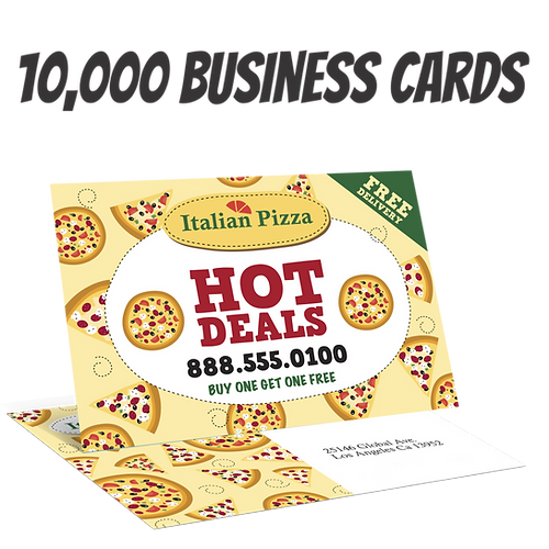 10000 full color double sided business card reheart Image collections