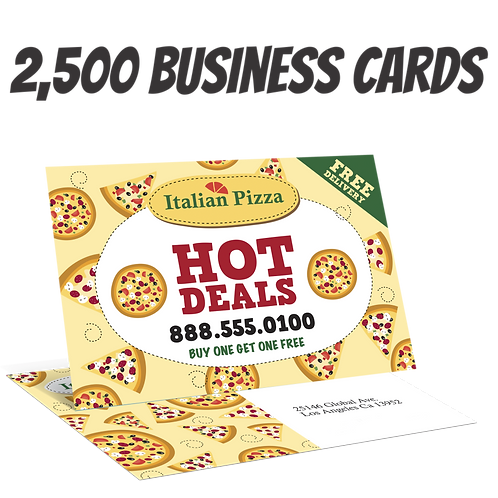 2500 Full Color Double Sided Business Cards