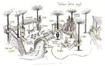 Аксонометрия Treehouse Castle