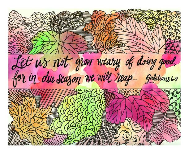 Not Grow Weary