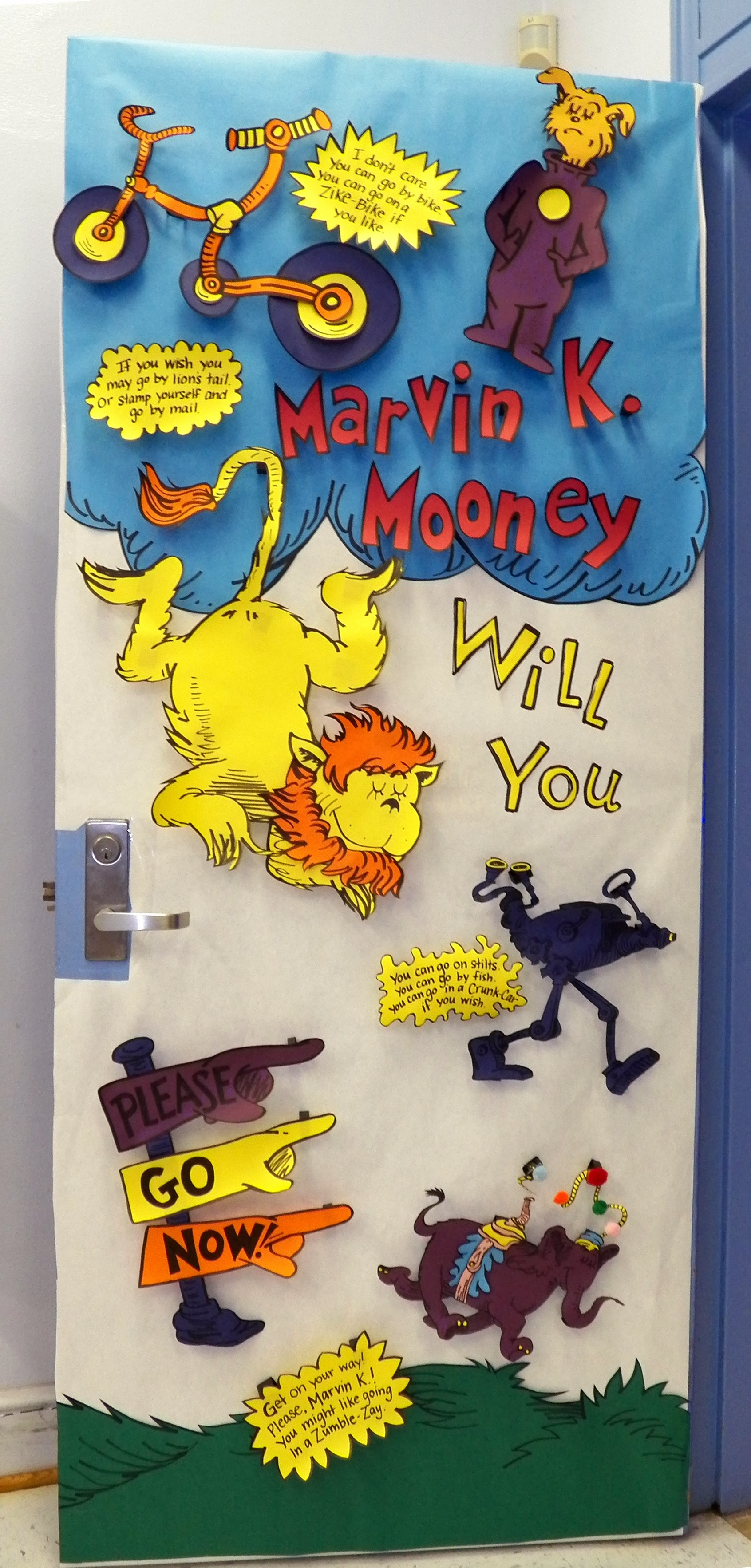 Dr. Seuss Door Decoration