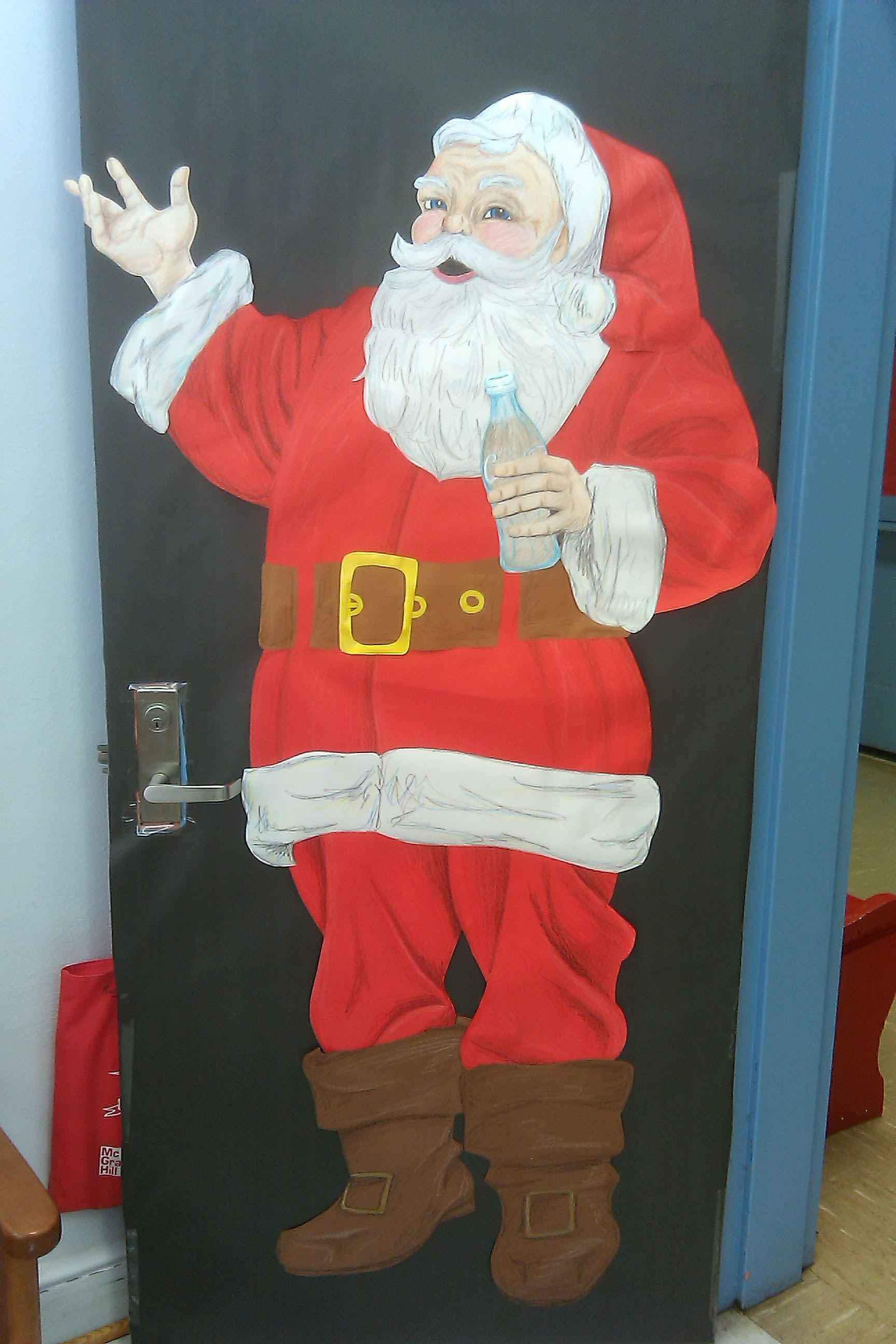 Crayon Coca-Cola Santa