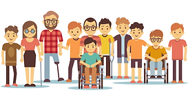 Image of disabled friends