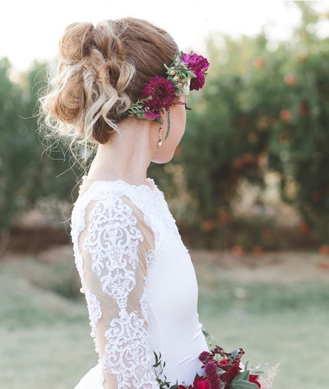 Ashley's style was on point. I have yet to see an updo with a flower crown incorporated and to be ho