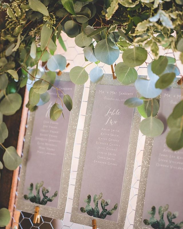 Simple details are always a must! Like eucalyptus garland to add that little touch to match the cute