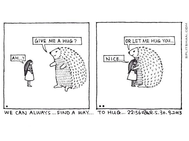 Give me a hug?