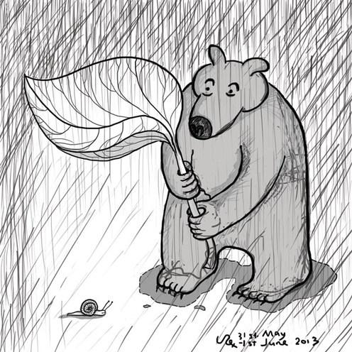 Bear Snail & Rain