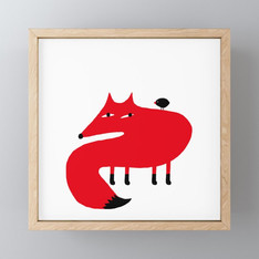 >>FOX AND BIRD<<, ART-PRINT
