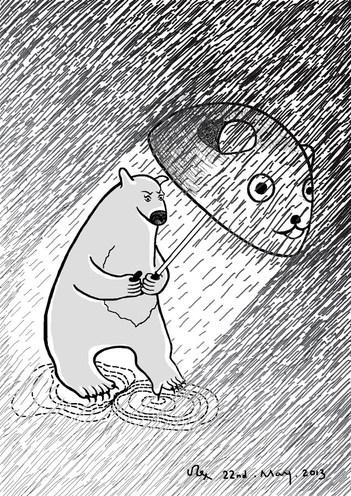 Bear and Rain