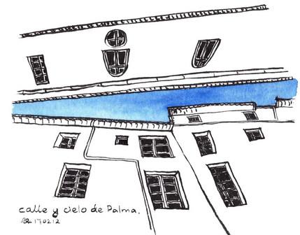 Calle y cielo de Palma