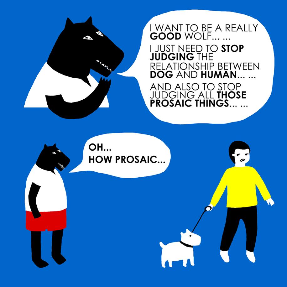 Mr Wolf is judging.