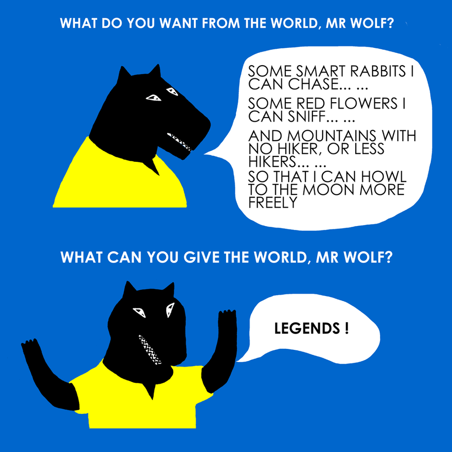 Wolf the legend.