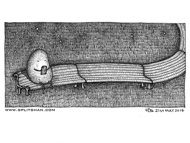Patato on Bench
