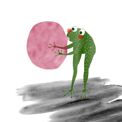 Frog and bubble