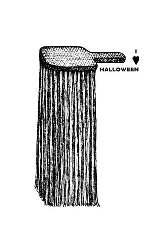 Comb is ready for Halloween.