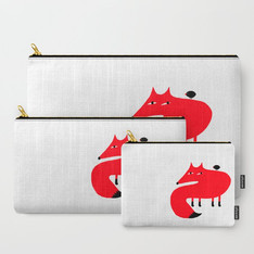 >>FOX AND BIRD<<, STICKER, WALL CLOCK, TOTE-BAG, ETC.