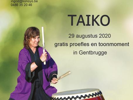 Maak kennis met taiko op 29/08/20