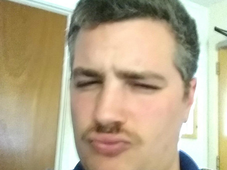 Pegg Traumatizes the SWR Crew with shocking new Moustache for MOvember!