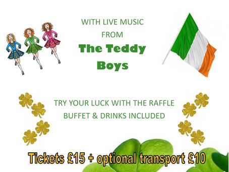 St Patrick's Party - Sunday 22nd March