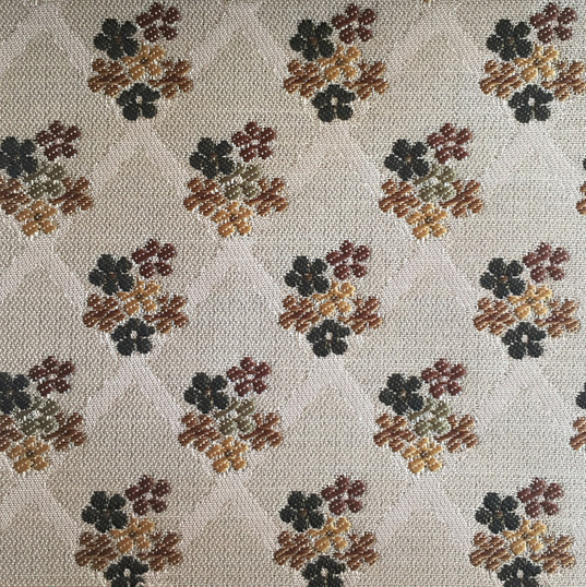 "Victoria Taupe ·81% Polyester, 19% Viscose ·55"" ·25,000+ Double Rubs ·Repeat: H: 2"" x V: 2"" ·Cleaning Code: W ·Railroaded ·Uses: Upholstery"