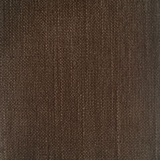 """Samantha Chocolate ·57% Rayon, 18% Polyester, 15% Cotton, 10% Linen ·54"""" ·40,000 Double Rubs ·Railroaded: No ·Cleaning Code: W ·Uses: Upholstery, Drapery"""