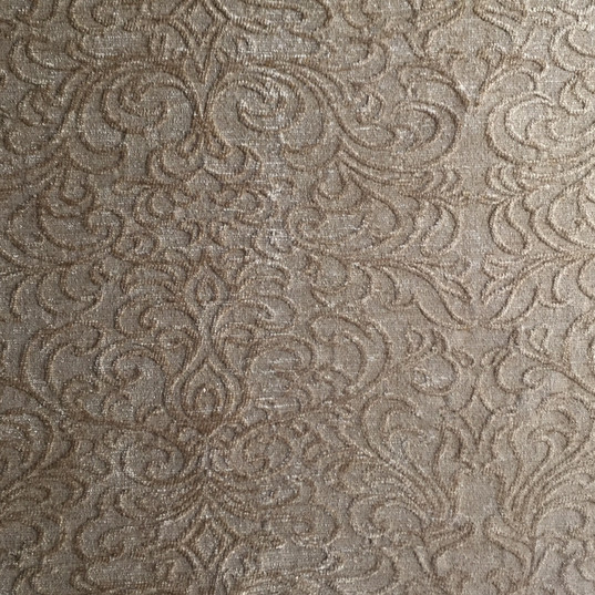 "Venetian Scroll Gold Venetian Scroll Beige *KB Fabrics Exclusive Pattern* ·48% Rayon, 34% Polyester, 18% Acrylic ·54"" ·15,000 Double Rubs ·Repeat: H: 13.75"" x V: 14.63"" ·Uses: Upholstery, Residential ·Cleaning Code: S ·Railroaded: Yes ·Country of Origin: USA"