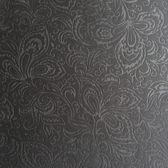 "Porto Embossed Platinum ·100% Polyester ·54"" ·100,000+ Double Rubs ·Repeat: Continuous Pattern ·Uses: Upholstery, Residential, Contract, Hospitality, Commercial ·Cleaning Code: S ·Railroaded: No ·Country of Origin: USA"