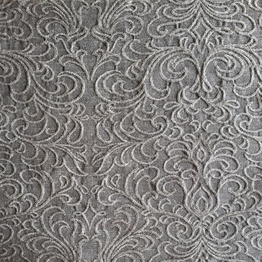 "Venetian Scroll Grey Venetian Scroll Beige *KB Fabrics Exclusive Pattern* ·48% Rayon, 34% Polyester, 18% Acrylic ·54"" ·15,000 Double Rubs ·Repeat: H: 13.75"" x V: 14.63"" ·Uses: Upholstery, Residential ·Cleaning Code: S ·Railroaded: Yes ·Country of Origin: USA"