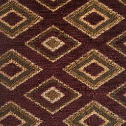 """Genesis Burgundy ·100% Polyester ·54"""" ·15,000 Double Rubs ·Repeat: H: 1.75"""" x V: 3"""" ·Cleaning Code: S ·Railroaded ·Uses: Upholstery"""