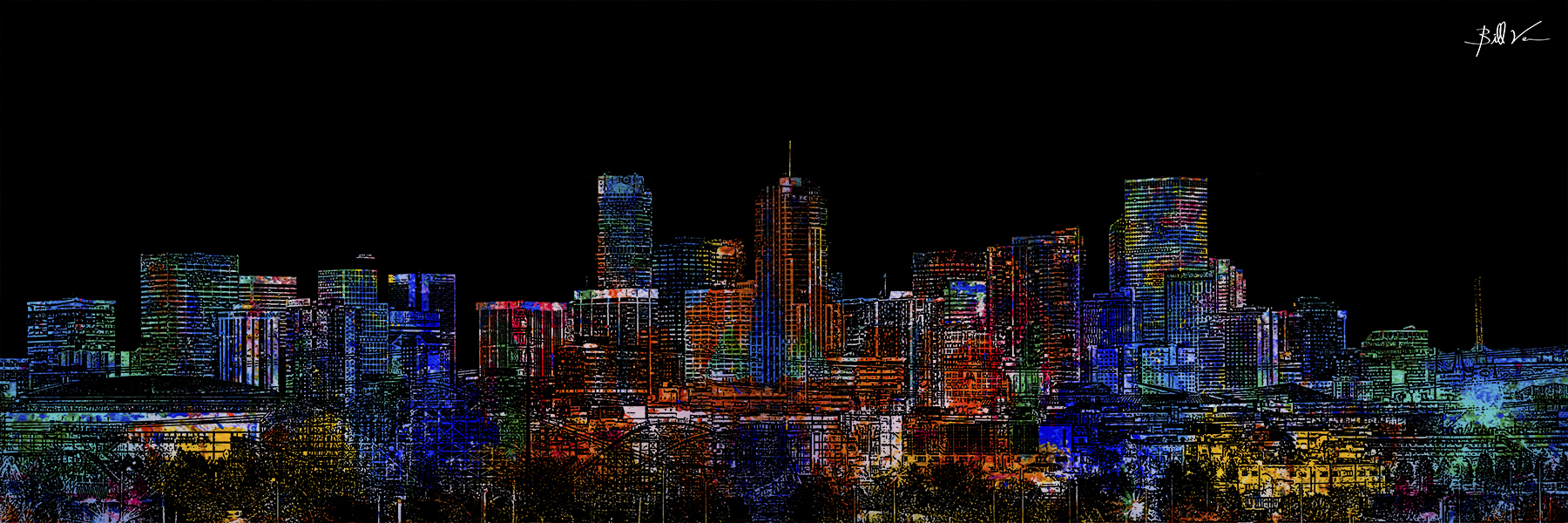 Downtown Denver 16 x 48