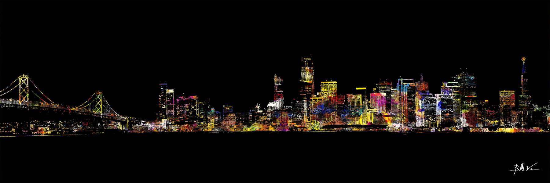 San Francisco Skyline 16 x 48