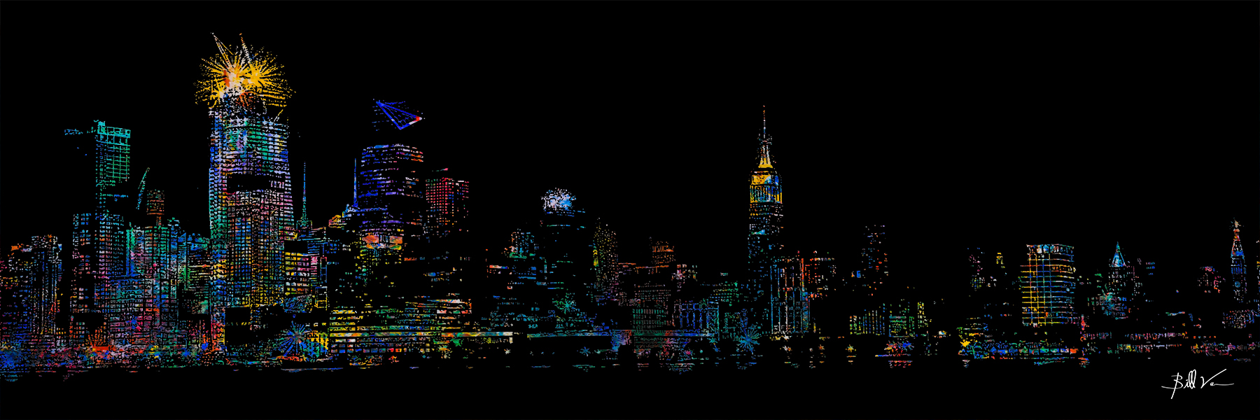 New York Skyline 16 x 48
