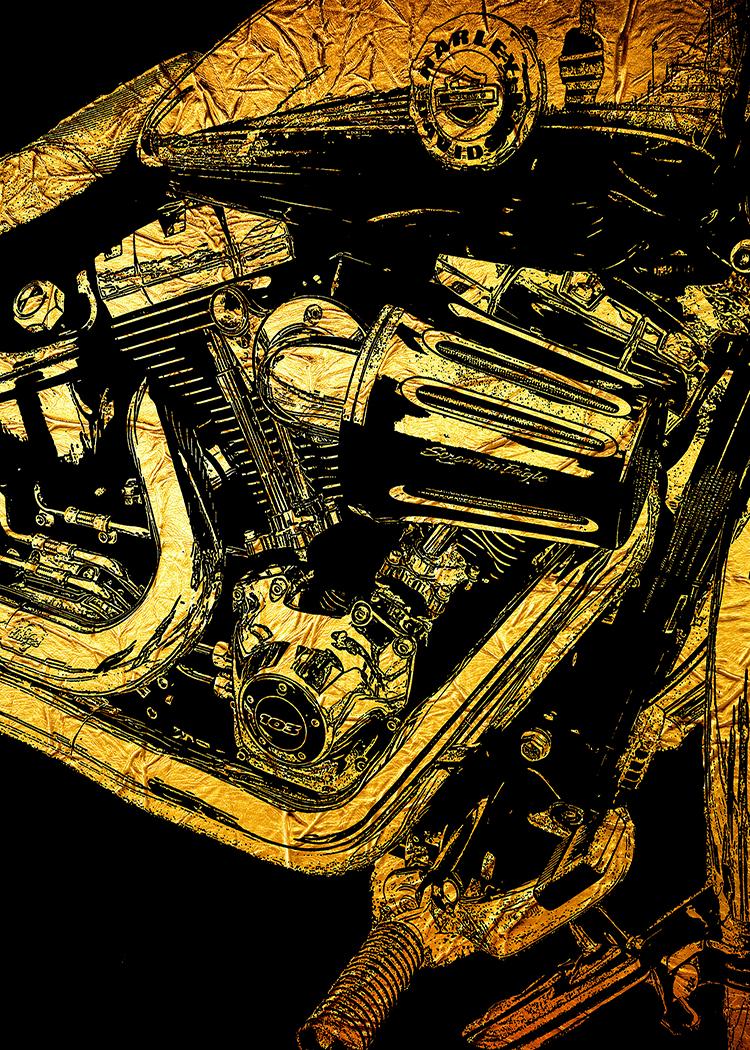 Harley 103 Gold Foil