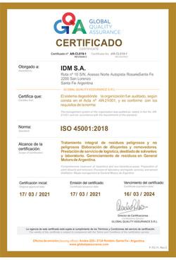 C1_F-TC-11 Certificado_IDM_ISO 45001_ARC