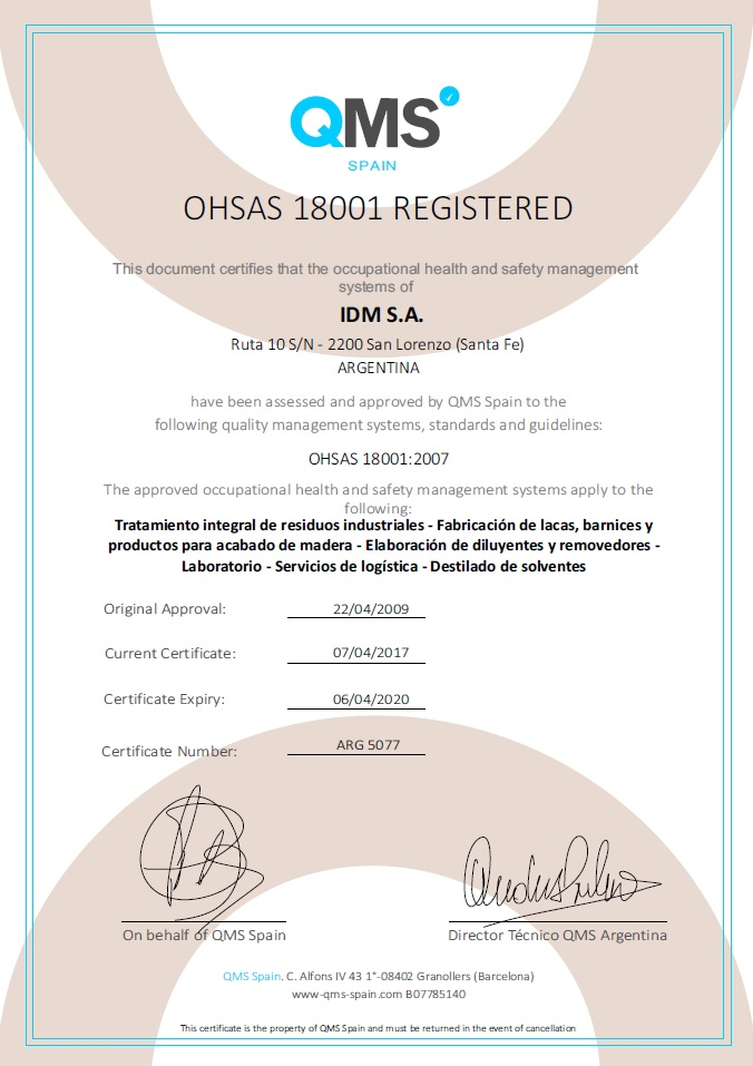 ARG 5077 - vto 06-04-2020 - IDM SA - SL