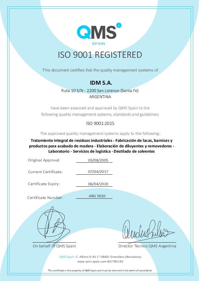 ARG 5010 - vto 06-04-2020 - IDM SA - SL