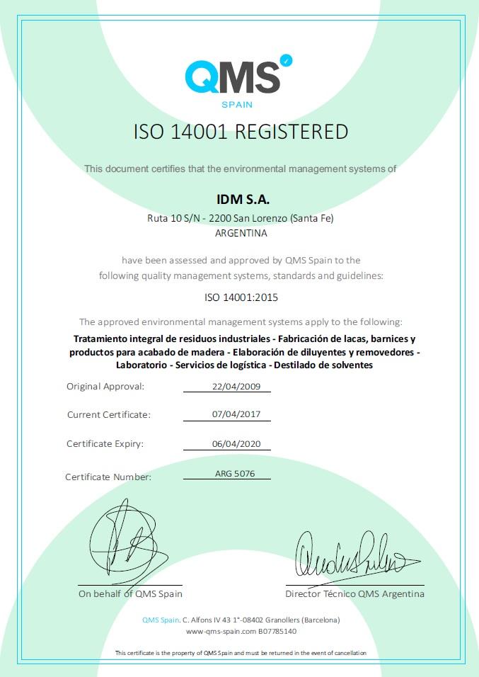 ARG 5076 - vto 06-04-2020 - IDM SA - SL
