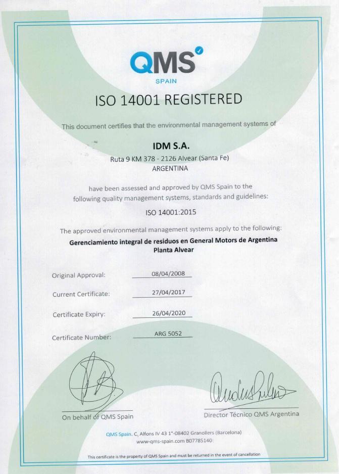 2020 04 26 ISO 14001 GM