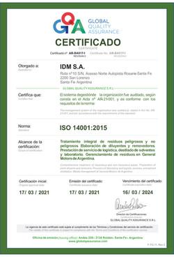 C1_F-TC-11 Certificado_IDM_ISO 14001_ARB