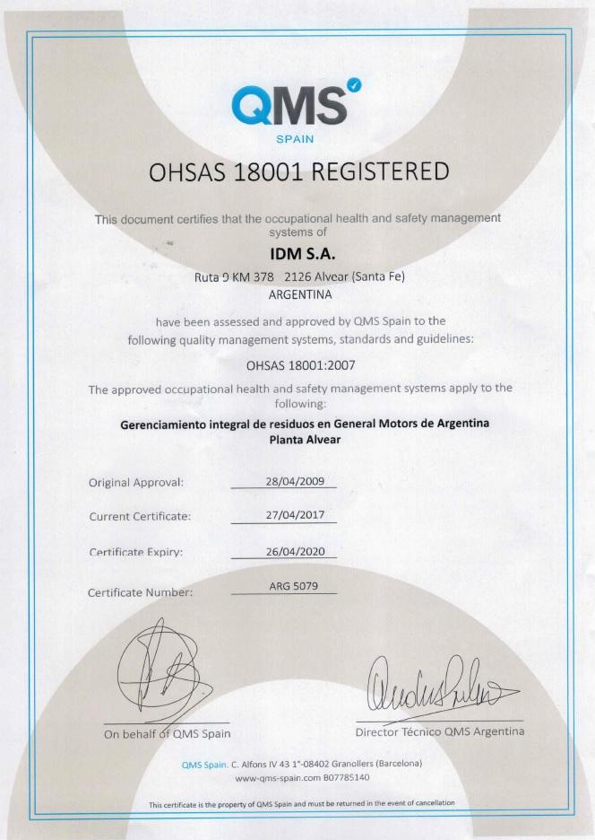 2020 04 26 OHSAS 18001 GM