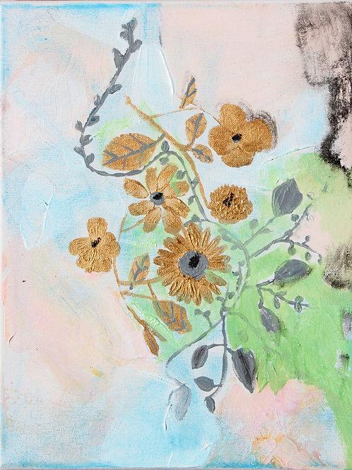 Les fleurs dorées