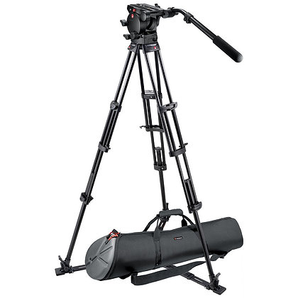 Manfrotto 526 Flat Head Tripod with 75mm Bolw Adapter
