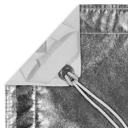 Tissu 8' x 8' Silver Lame