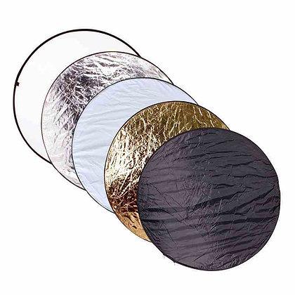 Réflecteur 5 en 1 blanc/argent/doré circulaire