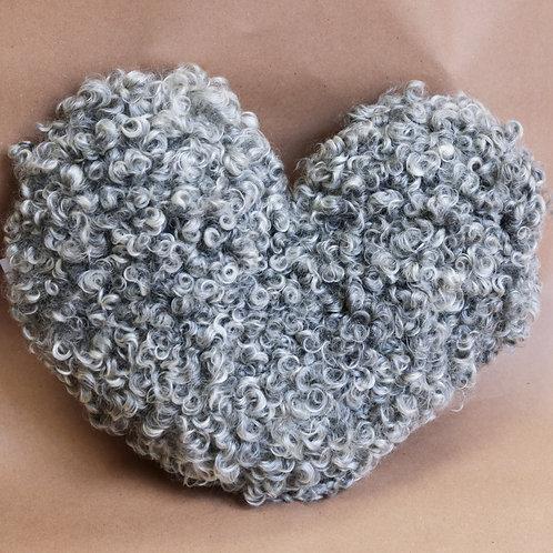 Hjärtekudde grå