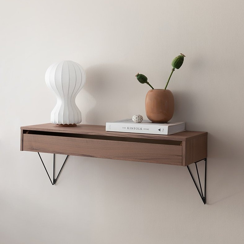Large Pythagoras Shelf with a vase, book and a plant pot on top